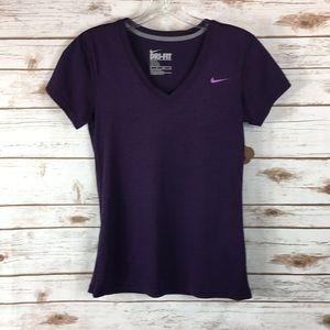 NIKE Purple Athletic T-short Top (XS)